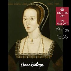 "On This Day In History . . 1536 -  17th May . Ann Boleyn is executed . The ermine mantle was removed & Anne lifted off her headdress, tucking her hair under a coif. After a brief farewell to her weeping ladies & a request for prayers, she kneeled down & one of her ladies tied a blindfold over her eyes. . She knelt upright, in the French style of executions. Her final prayer consisted of her repeating continually, ""Jesu receive my soul; O Lord God have pity on my soul."" . The execution…"