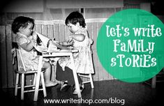 WOULD BE A GREAT ACTIVITY TO DO WHEN EVERYONE'S TOGETHER - LIKE THANKSGIVING OR CHRISTMAS :0)    Every family has a story. Have you been writing yours?