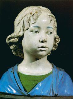 Work of Art: Bust of a young boy (glazed terracotta), Della Robbia, Andrea… Baroque Sculpture, Sculpture Head, Human Sculpture, Renaissance Portraits, Renaissance Artists, Italian Renaissance, Statues, Classical Art, Italian Art