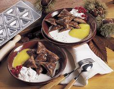 Scrigni al cioccolato con castagne