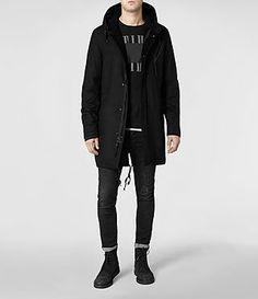 Homme Kray Parka (Black) | ALLSAINTS.com
