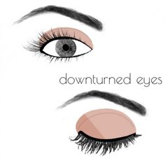 How To Apply Makeup For Your Eye Shape (I don't think I've ever seen one with downturned eyes before!!!)
