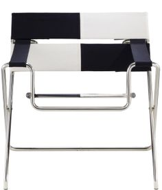 Marcel Breuer Bauhaus Foldable Armchair - Chair made of nickel-plated steel tube. Seat and armrests: fabric, leather, iron thread, saddle leather or cow-hide. Fine Furniture, Furniture Decor, Modern Furniture, Bauhaus, Rolling Chair, Cantilever Chair, Chairs For Rent, Marcel Breuer, Steel Material
