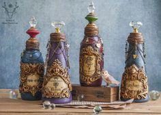 Halloween Potion Bottle Decor Altered Bottle Art Fairy | Etsy