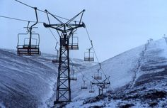 The old Cairngorm chairlift, Aviemore, Scotland
