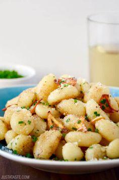 Quick Gnocchi with Crispy Garlic Recipe