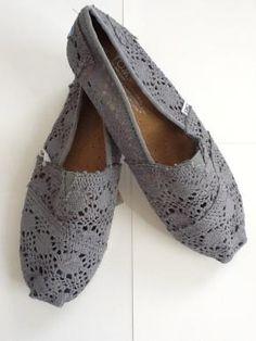 Lace Toms - Gray color - Size 7