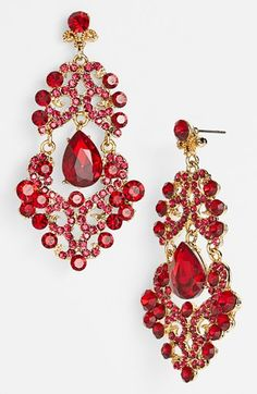 Love These Red Chandelier Earrrings Tasha Ornate Earrings Available At