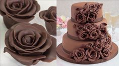 Amazing Rose Chocolate Cake Decorating Tutorial - How To Make Flower Cho...