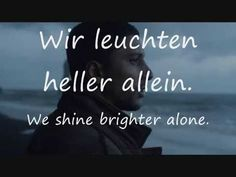 Auf Anderen Wegen - Andreas Bourani - German and English Lyrics  Together or together, alone.....I really like that song..