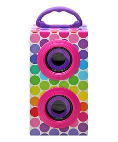 Another great find on #zulily! Lisa Frank Spotty & Dotty Portable Bluetooth Speaker by Lisa Frank #zulilyfinds