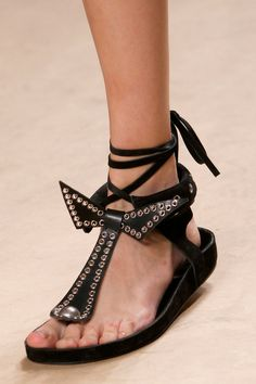 Isabel Marant Spring 2014 Ready-to-Wear Collection Slideshow on Style.com #sandal #bow #eyelids