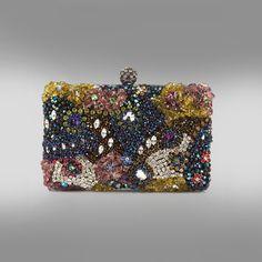 Moyna  Crystal Box Clutch