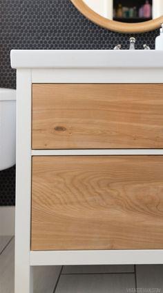 Vintage Revivals | Ikea hacked bathroom cabinet.
