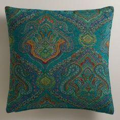 Peacock Jacquard Glasgow Throw Pillow