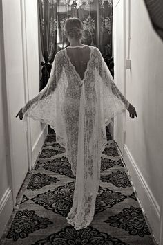 French Lace Bridal Robe by Sarafina Dreams