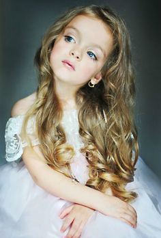 Russian child model Milana Kurnikova.