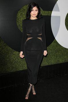 Kylie Jenner Red Carpet Vestido Preto