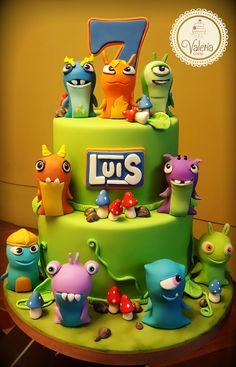 Slugterra fondant cake! ❤️ / Torta bajoterra decorada en fondant