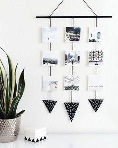 Veja como fazer um varal de fotos em 4 passos extremamente simples, e veja mais de 25 fotos para se inspirar e criar o seu próprio mural.