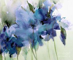 Blue Farytale Painting by Annemiek Groenhout