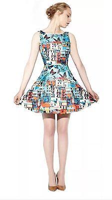 e9ec6530039a ALICE + OLIVIA Runway Sample Paradise Butterfly Venetian Summer Dress Size  6 Boho Dress