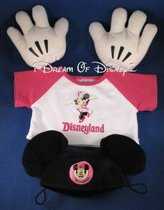 BUILD-A-BEAR-DISNEY-MINNIE-MOUSE-TEDDY-TEE-SHIRT-GLOVES-MICKEY-EARS-HAT-OUTFIT