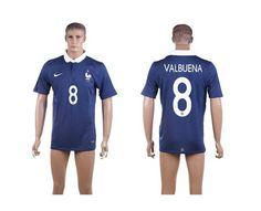 AAA+ Thailand 2014 Brazil World Cup France 8 VALBUENA Home Blue Soccer Jersey prices USD $19.50 #cheapjerseys #sportsjerseys #popular jerseys #NFL #MLB #NBA