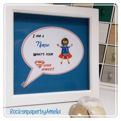 Superhero Nurse pebble art picture for a nurse, midwife,surgical nurse, other. Thank you gift. Homedecor, unique present handmade in Ireland All Nurses, Unique Presents, Art Pictures, Pebble Pictures, New Baby Gifts, Thank You Gifts, Pebble Art, Inspirational Gifts, Handmade Gifts