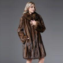 2016 más lujoso ruso Natural Sable déjame salir de estilo largo abrigo de piel de marta 100% bienes hechos a mano envío gratis(China (Mainland))