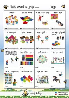 Art Education Projects, School Projects, Bingo, Dutch Language, Leader In Me, Vlog, Preschool Learning Activities, School Items, School Posters