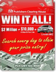 PCH Search & Win: Win A Multi Millionaire Making Moment!