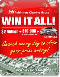 PCH Search & Win: Win A Multi Millionaire Making Moment!