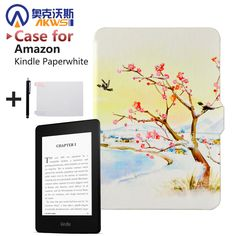 Newest Cover Case for Amazon Kindle Paperwhite 1/2 Magnetic Closure + Wake Up and Sleep +Screen Protector + Stylus Pen Price: USD 6.99 | United States
