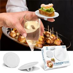 Finger food ring for cocktail parties
