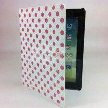 Kate Spade Style leather iPad 2 case with smart cover - pink