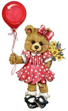 Birthday Cheers, Birthday Wishes, Happy Birthday, Teddy Bear Cartoon, My Teddy Bear, Bear Clipart, Bear Illustration, Cute Bears, Happy Planner