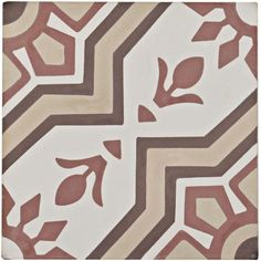 Merola Tile Cemento Ellis Sunset Encaustic in. x in. Cement Handmade Floor and Wall Tile, Sunset / Low Sheen Smooth Concrete, Wall Tiles, Animal Print Rug, Tile Floor, Home Improvement, At Least, Flooring, Handmade, Things To Sell