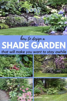 Whether you are gardening in a small space, a large backyard or even a side yard, creating a beautiful shade garden design is possible. Find some shade garden inspiration with these landscape ideas th Backyard Garden Design, Large Backyard, Garden Landscape Design, Backyard Ideas, Front Yard Garden Design, Rose Garden Design, Backyard Shade, Backyard Plants, Small Backyard Gardens