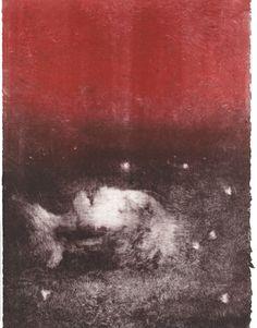 S O P H I E ° L é C U Y E R : monotype - Red Moon