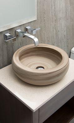 Lavabo para baños modernos. Modelo Valko, con efecto tipo madera.