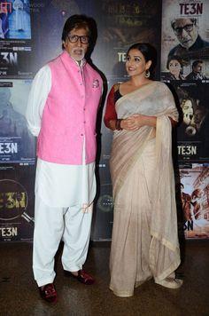 Amitabh Bachchan and Vidya Balan at Movie Promotion on Silverscreen. Vidya Balan Hot, Film World, Sexy Little Black Dresses, Amitabh Bachchan, Indian Army, Beautiful Saree, Best Actor, Indian Actresses, Bollywood