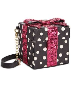 Betsey Johnson Gift Box Sequin Crossbody - All Handbags - Handbags & Accessories - Macy's