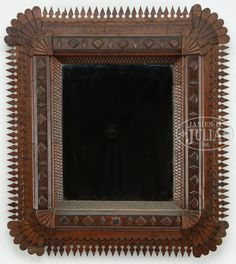 TRAMP ART CARVED FRAME.