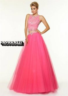 Mori Lee 97116 Beaded Pink Two Piece Ball Gown Prom Dress Prom Dresses Long  Pink 8cb0f33376b0