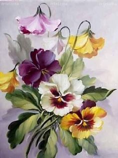 """""""Rise and Shine"""" watercolor by Susan Crouch. Great example of negative painting. China Painting, Tole Painting, Fabric Painting, Art Floral, Watercolor Flowers, Watercolor Paintings, One Stroke Painting, Botanical Prints, Vintage Flowers"""