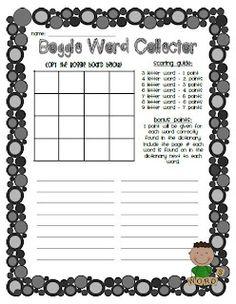Boggle! Fun with Words! as seen on Third Grade Troop  www.thirdgradetroop.com