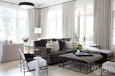 Family Room - Interiors by Shawn Broaddus featured in Atlanta Homes Magazine