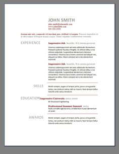General Resume Template Free  Resume Template Ideas  Amg Career