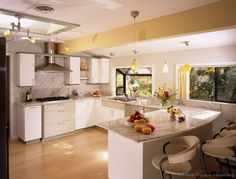 Image of: modern kitchen design white cabinets small kitchen white kitchen ideas stunning contemporary white Modern Kitchen Cabinets, Kitchen Cabinet Colors, Kitchen Countertops, Kitchen Interior, Granite Kitchen, Kitchen Modern, Granite Backsplash, Marble Countertops, Kitchen Paint